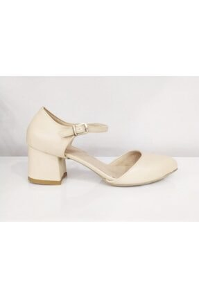 PUNTO Kadın Bej Tek Bant  Topuklu Ayakkabı 527078z