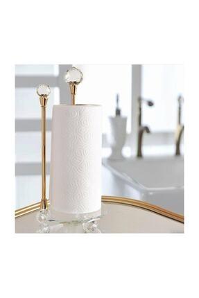 AROW Dekoratif Kristal Taşlı Gold Cam Kağıt Havluluk
