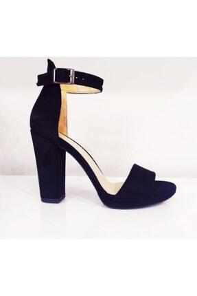 PUNTO Kadın Siyah Kalın Topuk Ayakkabı 634125z