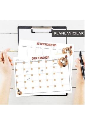 Mefamax Mantarlı Haftalık ve Aylık Planlayıcı Set
