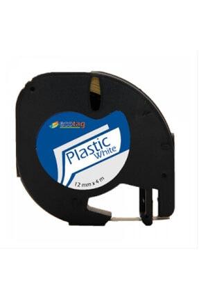Dymo Ecotag Dymo Letratag Muadil Plastik Şerit 12mm x 4mt Beyaz