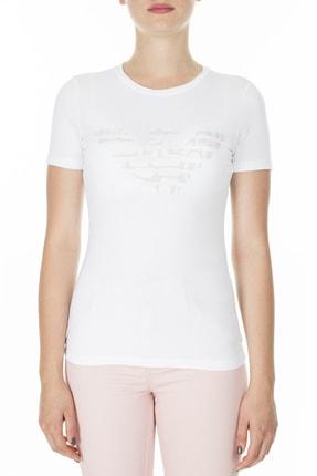 Emporio Armani Kadın Beyaz T-Shirt 3H2T8A 2J07Z 0100