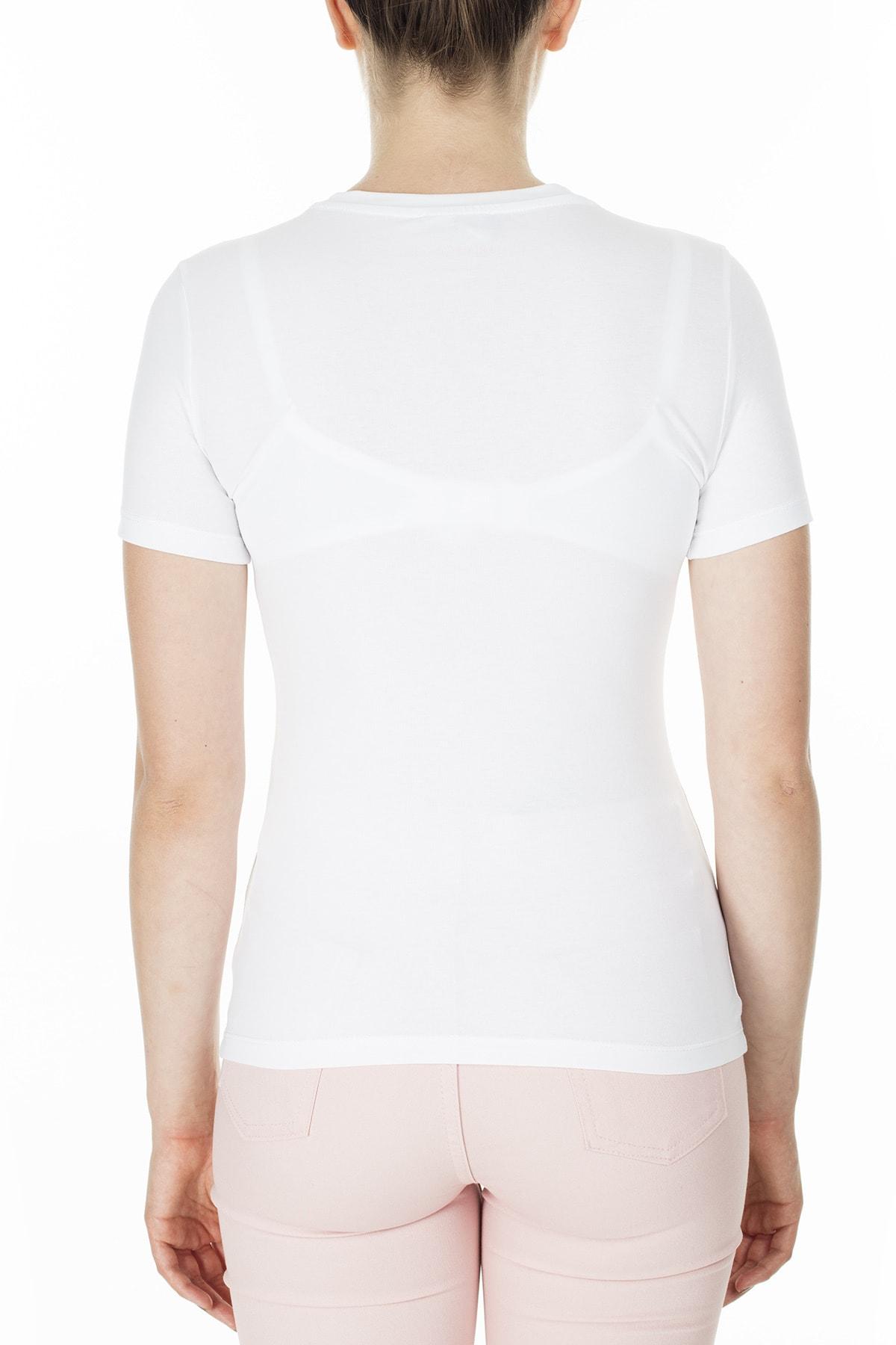 Emporio Armani Kadın Beyaz T-Shirt 3H2T8A 2J07Z 0100 2