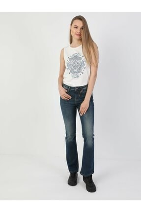 Colin's 791 Monica Normal Kesim Normal Bel Çizme Paça Koyu Mavi Kadın Pantolon .CL1048929_Q1.V1_DN40906
