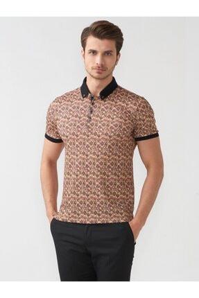 Mcr Erkek Sarı Desen Polo Yaka T-shirt 36516