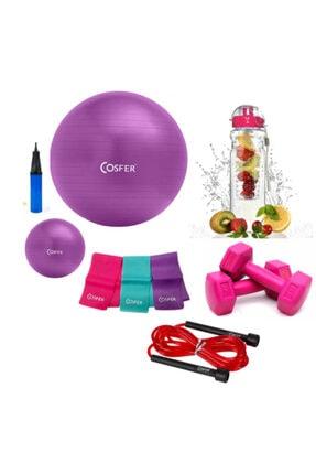 Cosfer 6'lı Pilates Seti Ve Detox Matara