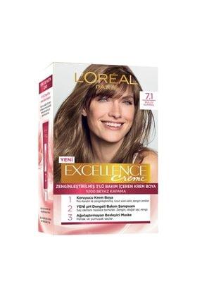 L'Oreal Paris Saç Boyası - Excellence Creme 7.1 Küllü Kumral