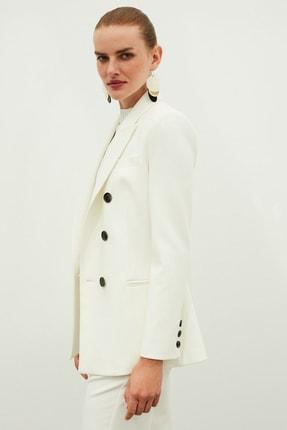 İpekyol Kadın Beyaz Kruvaze Ceket IW6200005075