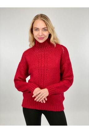 Miss Poem Kadın Kırmızı Triko Kazak