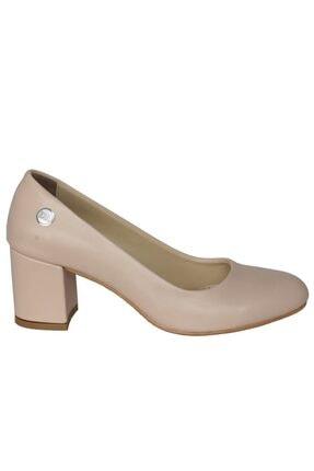 Mammamia Kadın Bej Klasik Cilt Ayakkabı