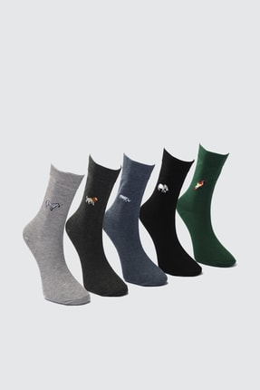 TRENDYOL MAN Çok Renkli Erkek 5'li Soket Çorap TMNAW21CO0073