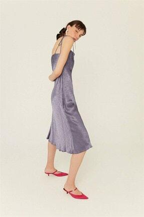 rue. Indigo Degaje Yaka Askılı Elbise