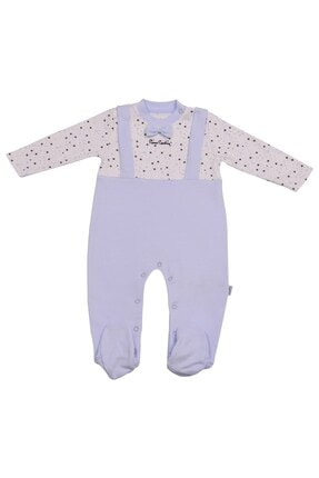 Pierre Cardin Baby Pierre Cardin Yıldızlı Papyonlu Erkek Bebek Tulumu Mavi