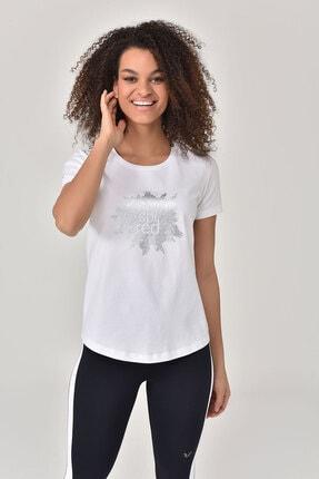 bilcee Beyaz Büyük Beden Kadın T-Shirt GS-8131
