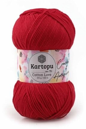 Kartopu Kırmızı Cotton Love El Örgü İpi 100 gr K143