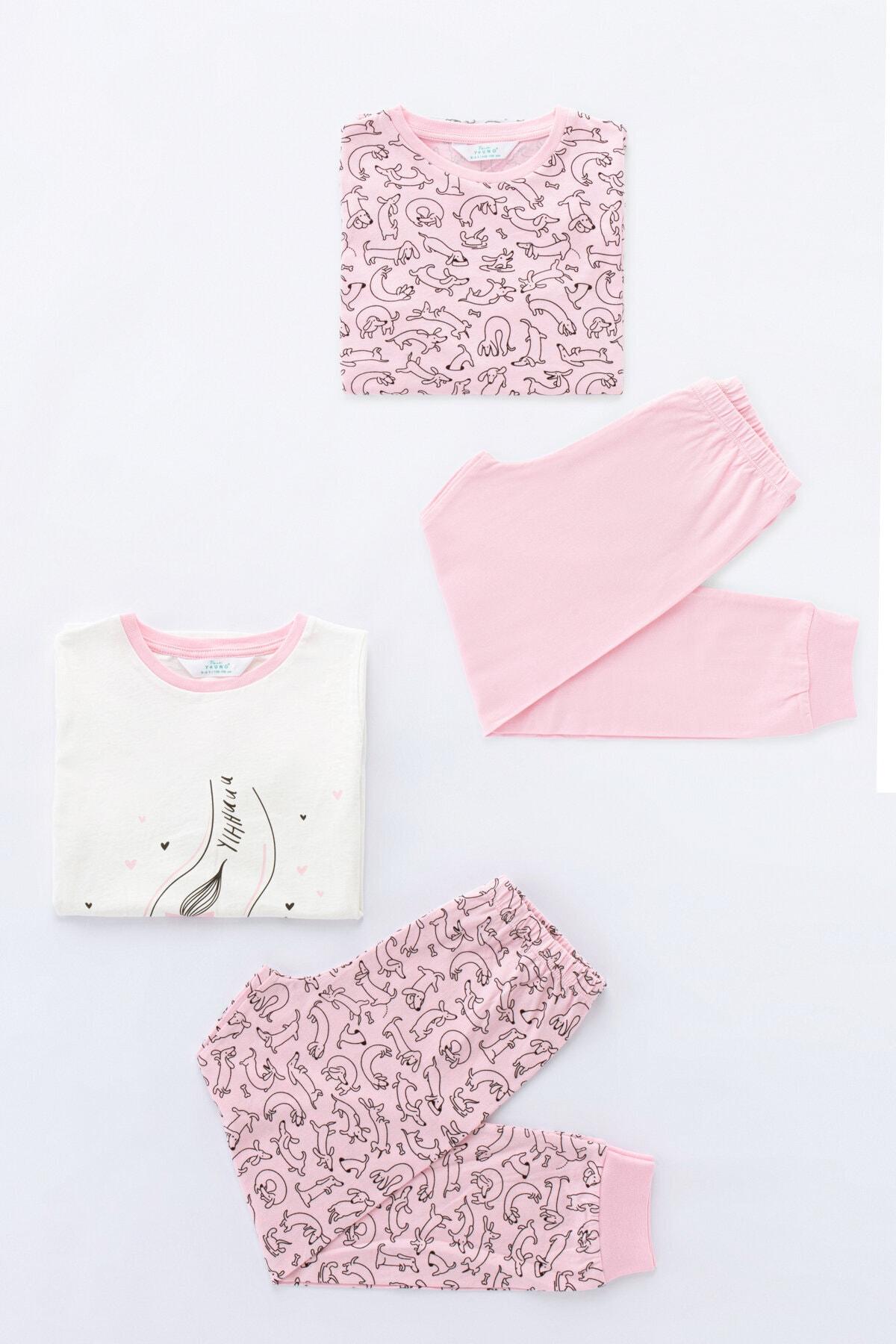Penti Çok Renkli Kız Çocuk Cute Dog 4Lü Pijama Takımı