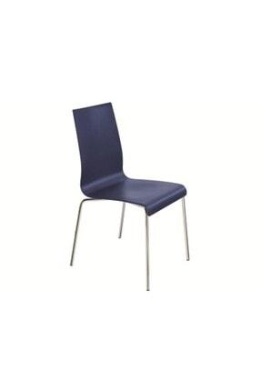 Papatya Icon-s Plastık Sandalye Bahçe Mutfak Restoran Kafe Lacivert - Krom