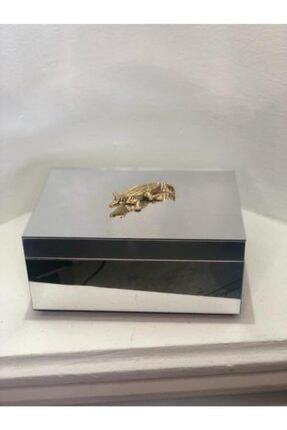 irayhomedecor Mika Ayna Kaplamalı Gümüş Mücevher Kutusu