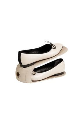 English Home Loya Plastik 2 Katlı Ayakkabı Rampası 10,5x26,3x15 cm Bej
