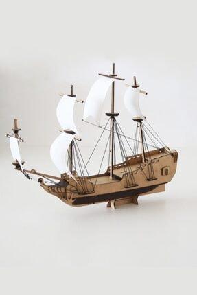 3D SERGİ 3d Ahşap Puzzle Korsan Gemisi 89 Parça