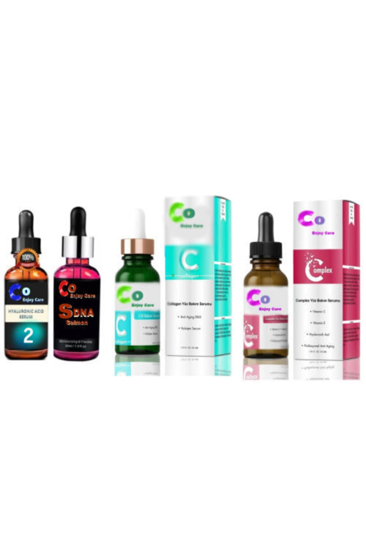 co enjoy care Complex C Vitamini+hyaluronik Asit+somon Dna+kolajen 4'lü Serum Set 1