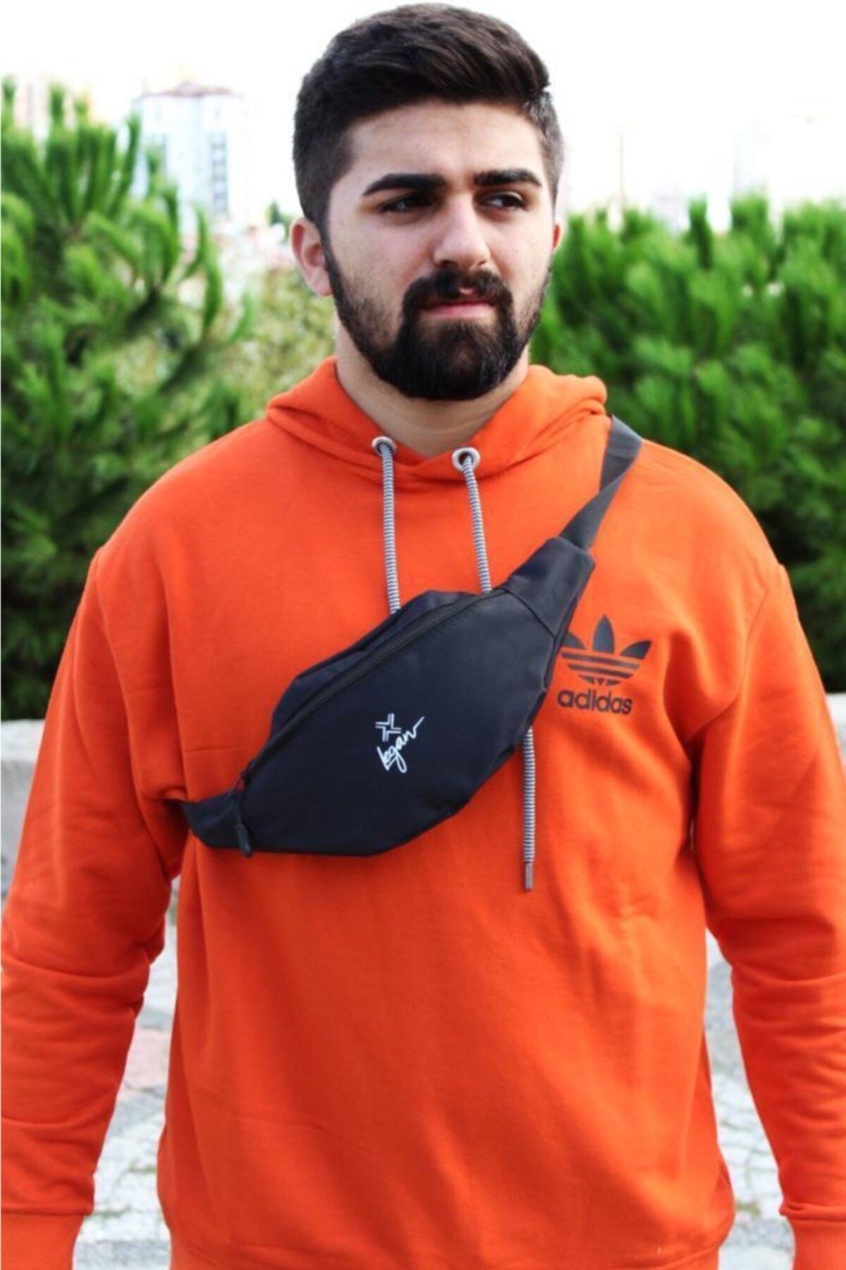 LEGAN Unisex Siyah Freebag Bel Çantası 8094 2