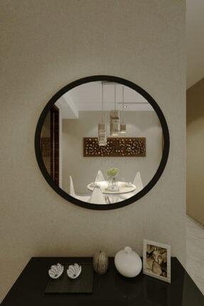 İkizlerçeyiz Merlin Dekoratif Konsol Aynası Mat Siyah 59 cm