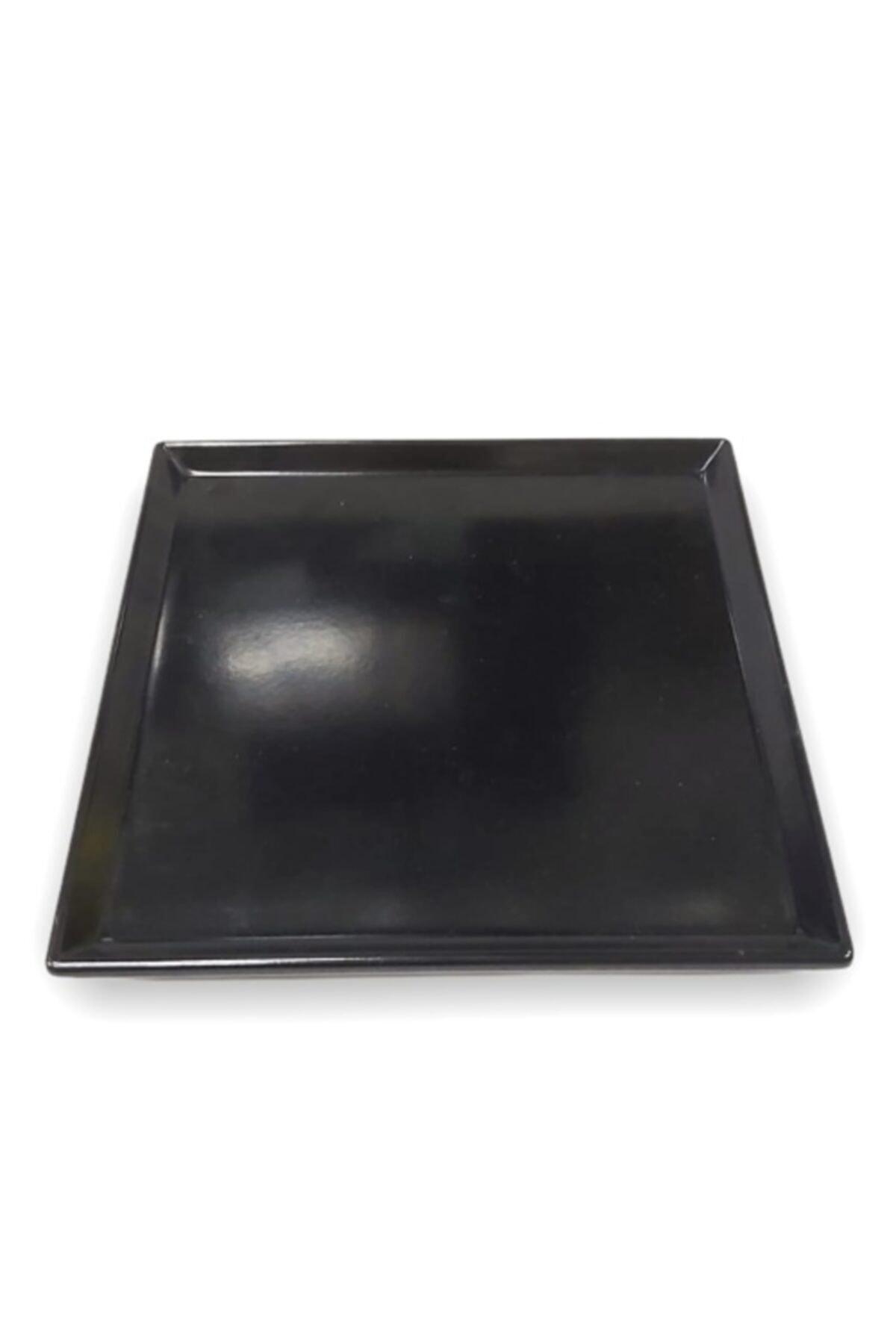 Evren 20*20cm Siyah Sunum Tabağı Thermo Melamin 1