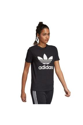 adidas Kadın Siyah Originals T-shirt - Trefoil Tee - CV9888
