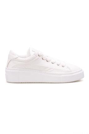 Pegia Kadın Beyaz Hakiki Deri Sneaker La1603