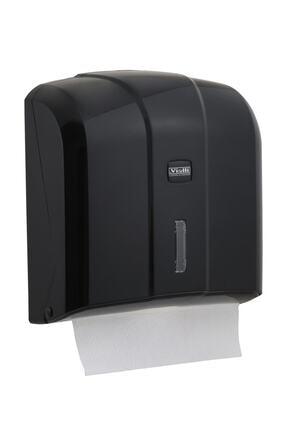 Vialli Kh300b Z Katlı Kağıt Havlu Dispenseri 300'lü Siyah