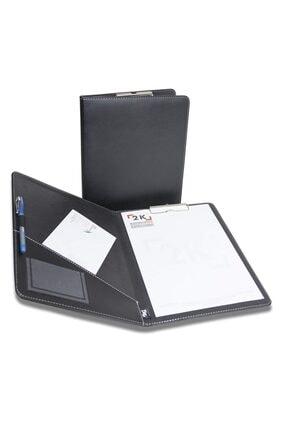 2K A4 Kapaklı Sekreterlik Suni Deri Siyah 501s