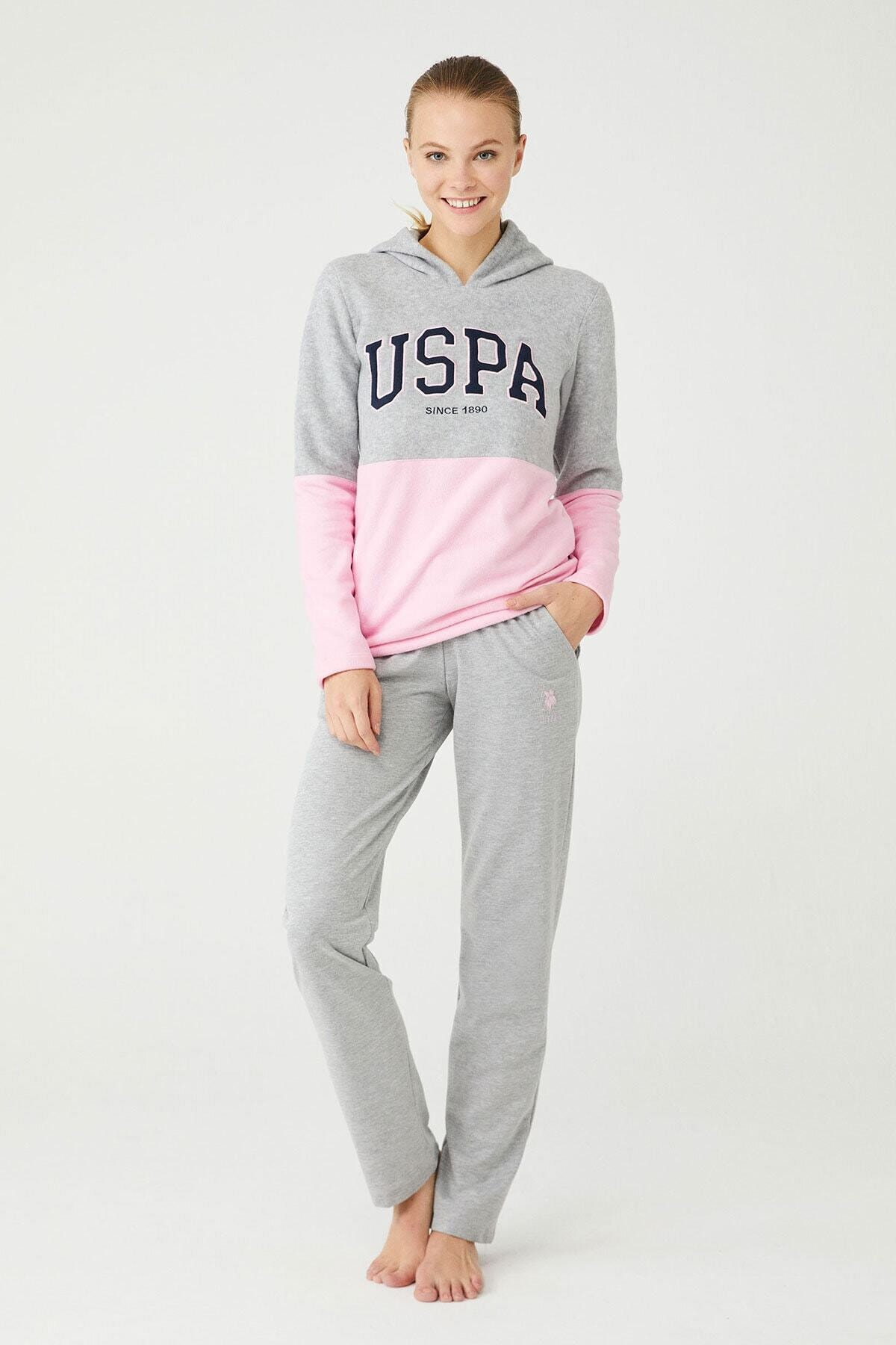 U.S POLO Kadın Gri Melanj Ev Giyim 1