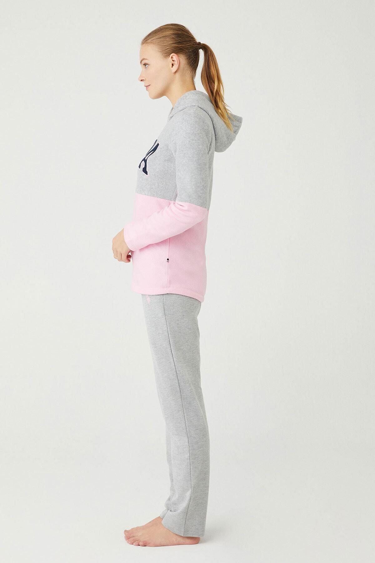 U.S POLO Kadın Gri Melanj Ev Giyim 2