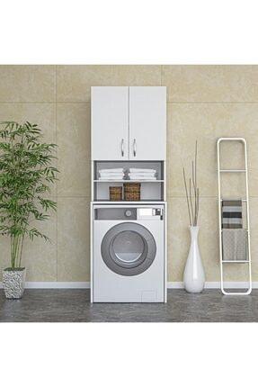ARS GRUP MOBİLYA Çamaşır Makinesi Dolabı Banyo Dolabı Raflı Kapaklı Dolap