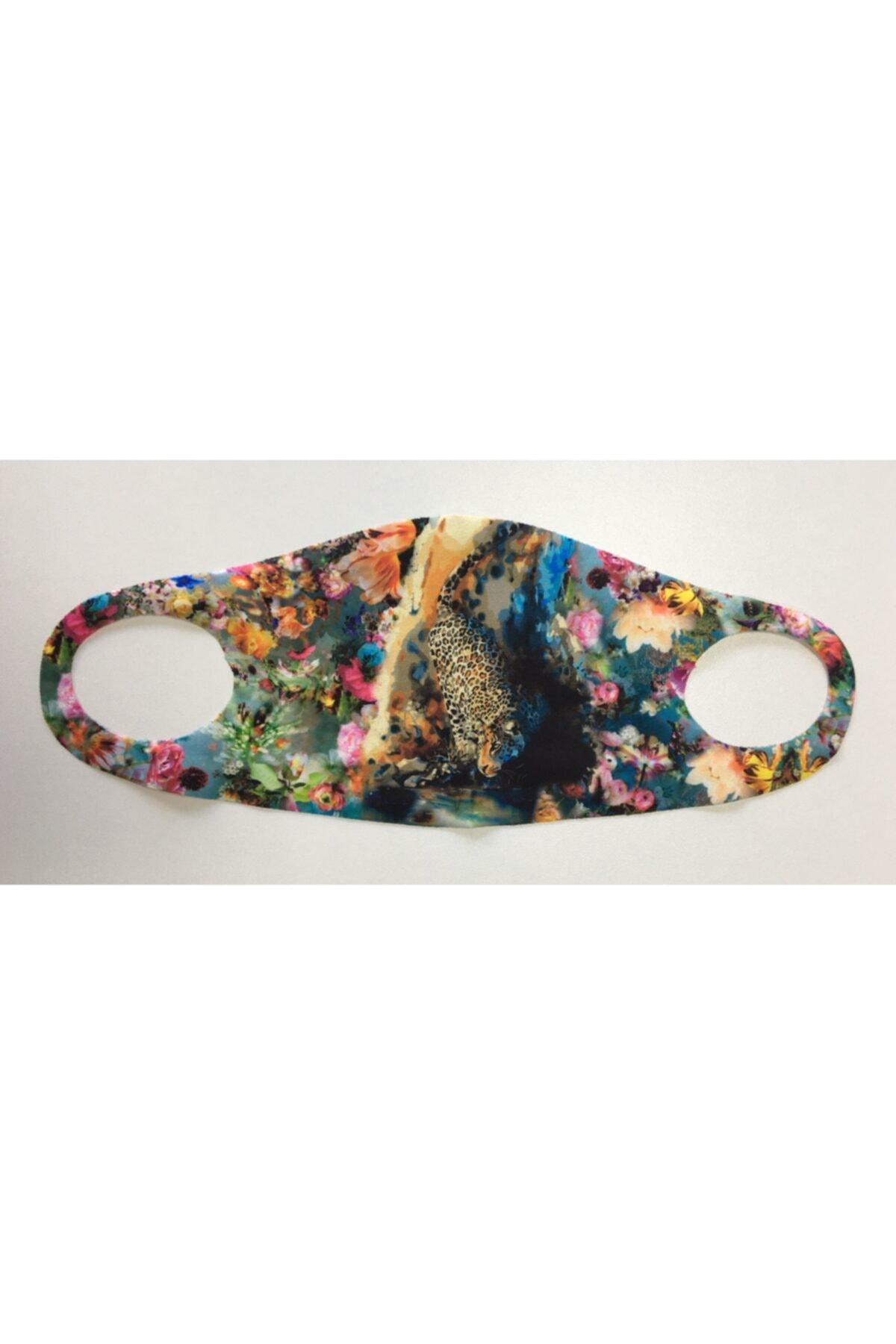 WANNA Yıkanabilir, Baskılı, Dikişsiz Kumaş Maske 1