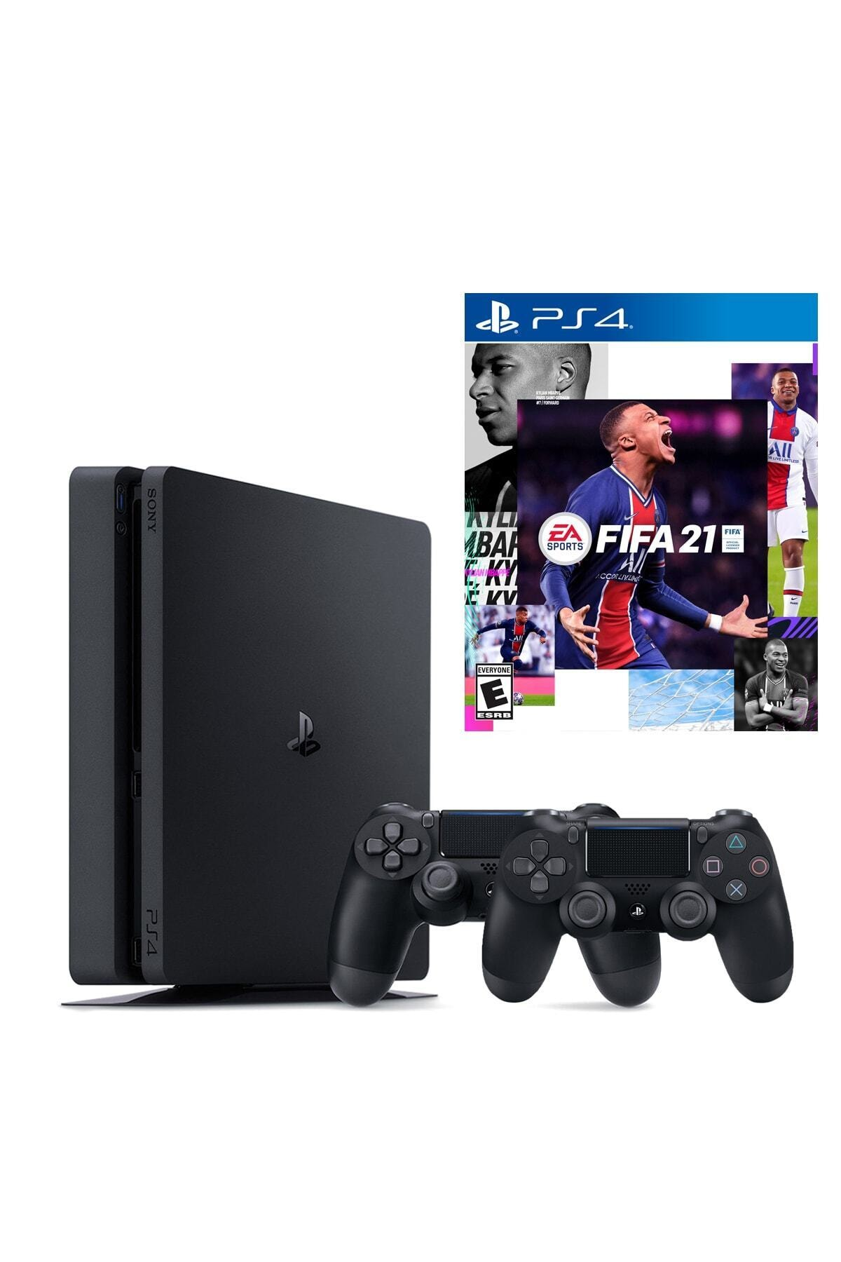 Sony Playstation 4 Slim 1 Tb + 2. Ps4 Kol + Ps4 Fifa 2021 1