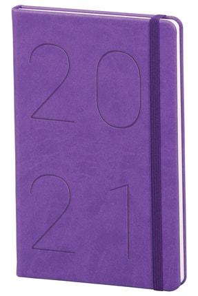 Matt Notebook 2021 Günlük Ajanda Mor