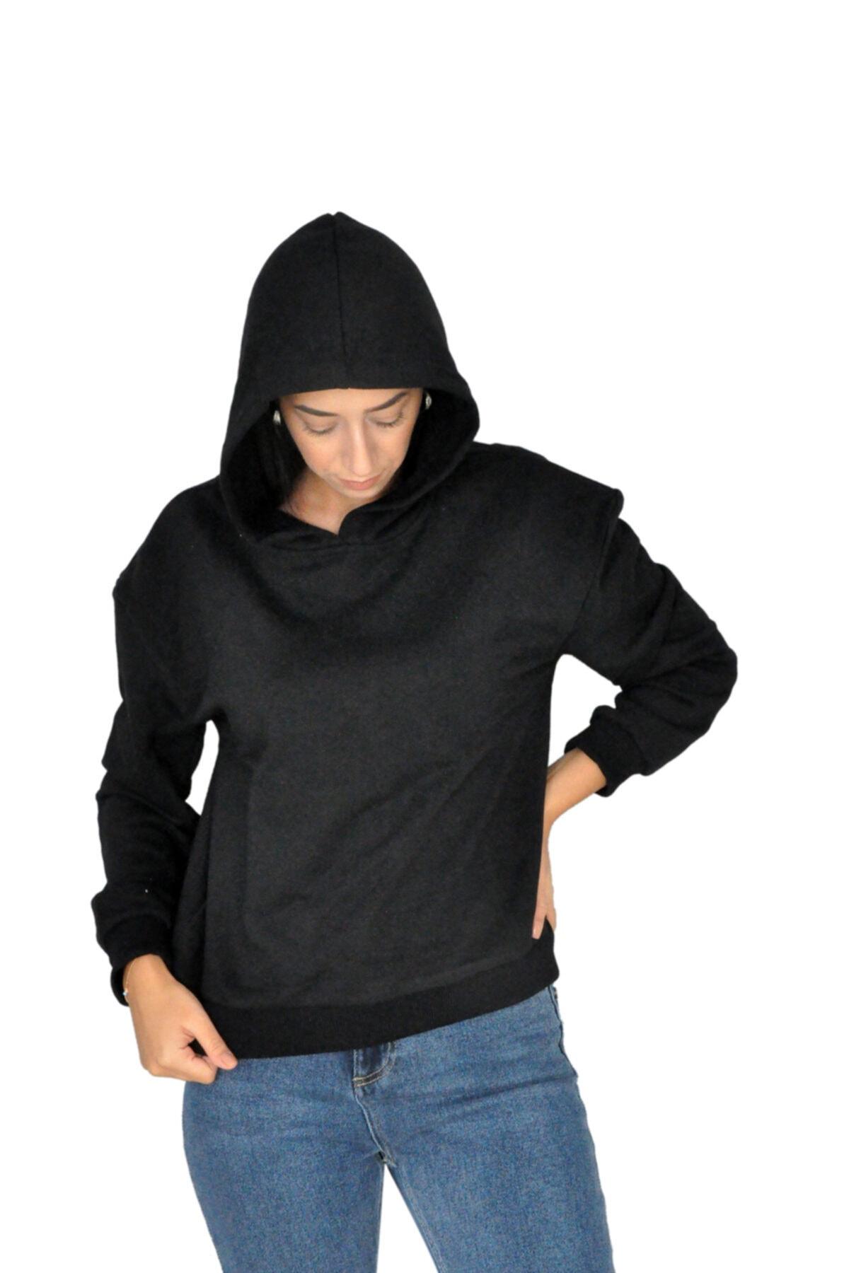 bck Siyah Kapüşonlu Sweatshirt 2