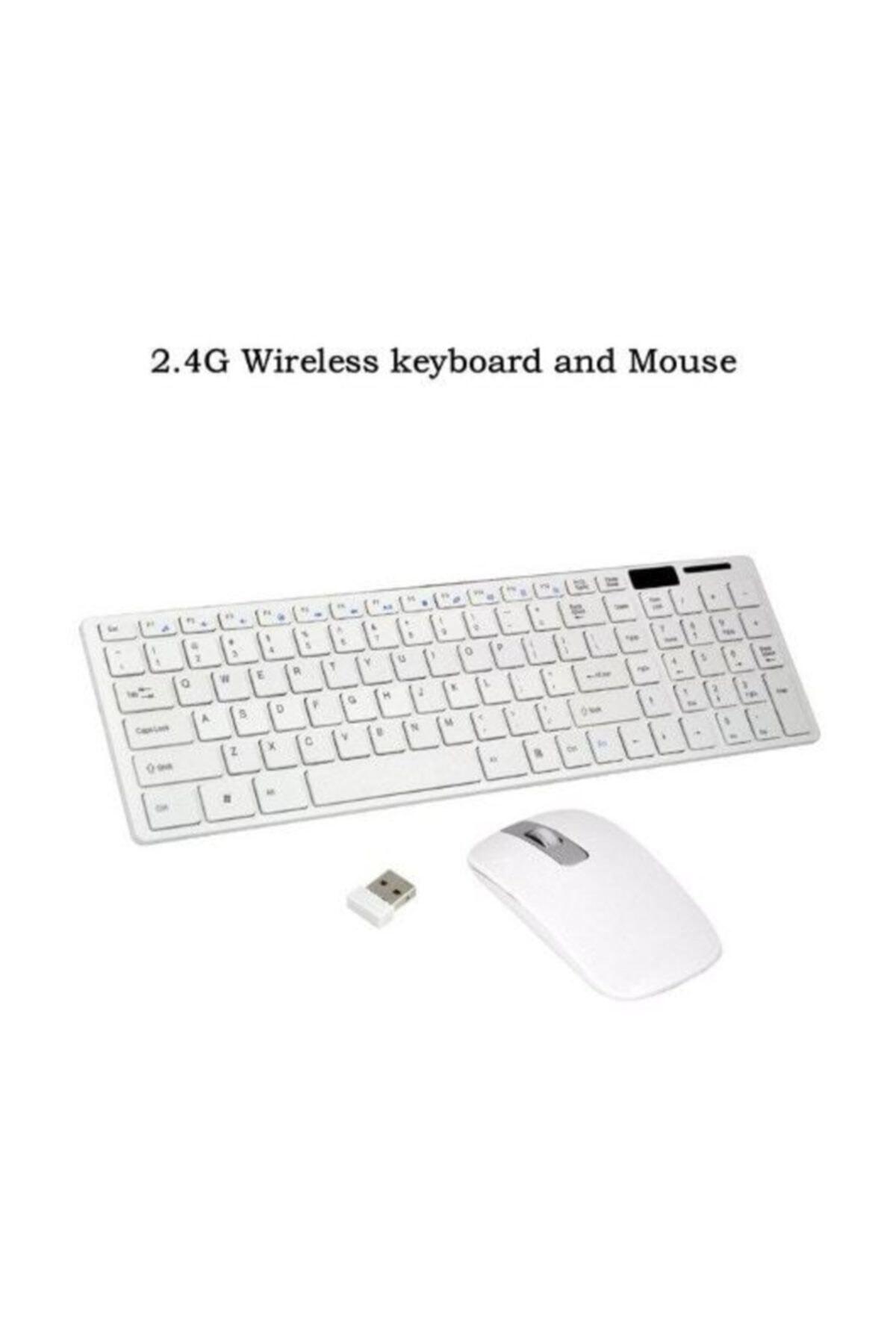 Platoon Kablosuz Klavye Mouse Seti 2.4 Ghz Wireless Tv Pc Uyumlu Pl-374 2