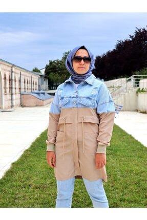 Loreen Kadın Kot Detaylı Trençkot Ceket