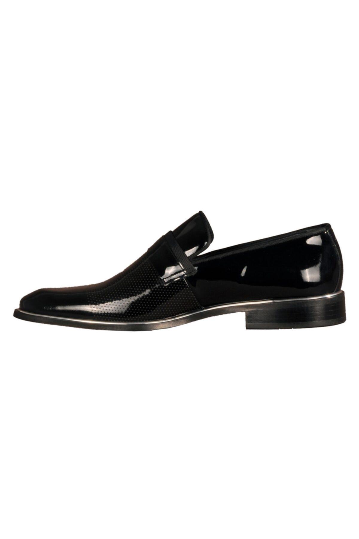 Fosco Siyah Erkek Hakiki Deri Klasik Ayakkabı 2