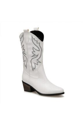 Butigo GİANNİ Beyaz Kadın Ökçeli Çizme 100912939