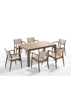 Novussi 90x150 Camlı Masa 6 Adet Rengnum Sandalye 6 Minder