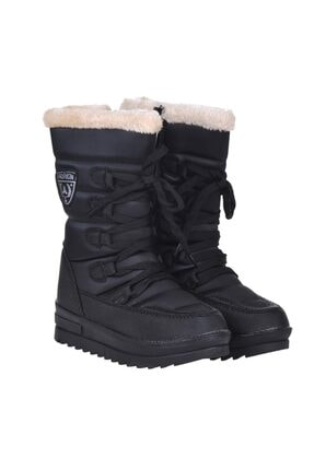 Twingo 955 Siyah Termal Kürklü Kışlık Kız Çocuk Kar Bot Ayakkabı