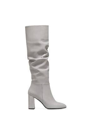 Nine West SORAMA Gri Kadın Ökçeli Çizme 100582122