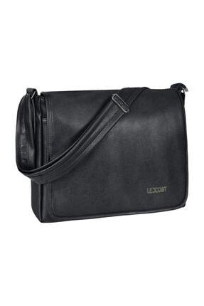 Roxy Siyah Unısex Kapaklı Laptop-postacı Çantası R-09