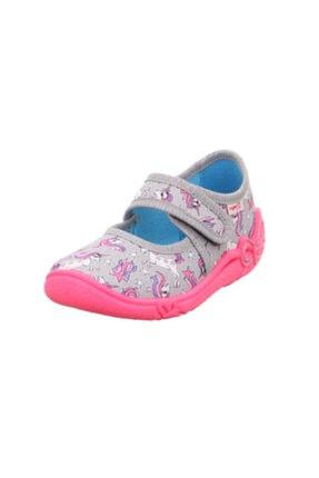 Superfit Kız Çocuk Panduf Kreş Ayakkabısı Gri Unicorn
