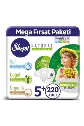 Sleepy Natural Bebek Bezi 5+ Numara Junior Plus 220 Adet
