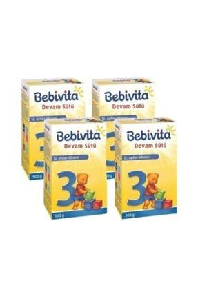 Bebivita 3 Devam Sütü 500 gr X 4 Adet